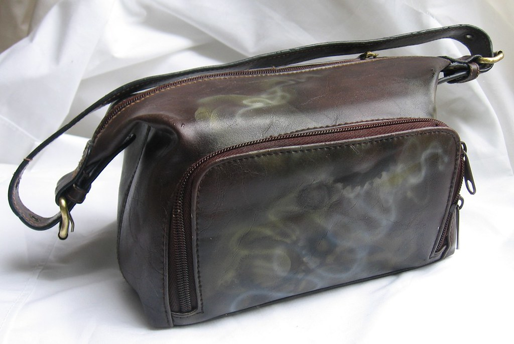 airbrushed steampunk handbag