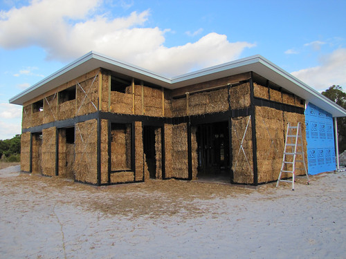 View from the North West - Strawbale House Build in Redmond Western Australia