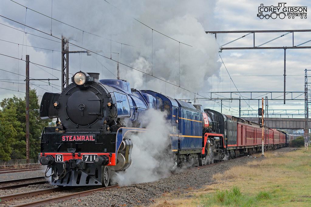 Steamrail Snow Train Trip departs Oakleigh by Corey Gibson