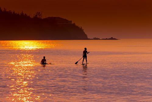 名護市 沖縄県 日本 jp paddleboard silhouette evening beach