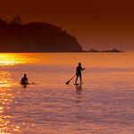 Just crossed the sunset glitter Evening shot at Kouki Beach, Okinawa, Japan
