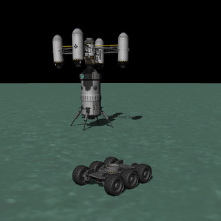Shelly Skycrane w/ Hab Module Landed   by Second City Warehouse