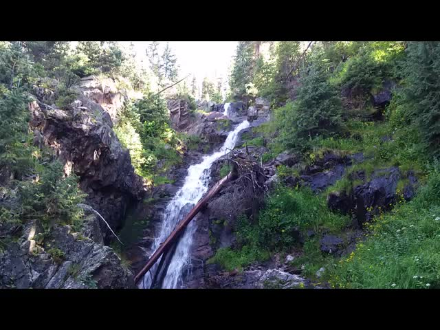 5256 Video of the second set of waterfalls on the Emerald Lake Trail below Moon Lake