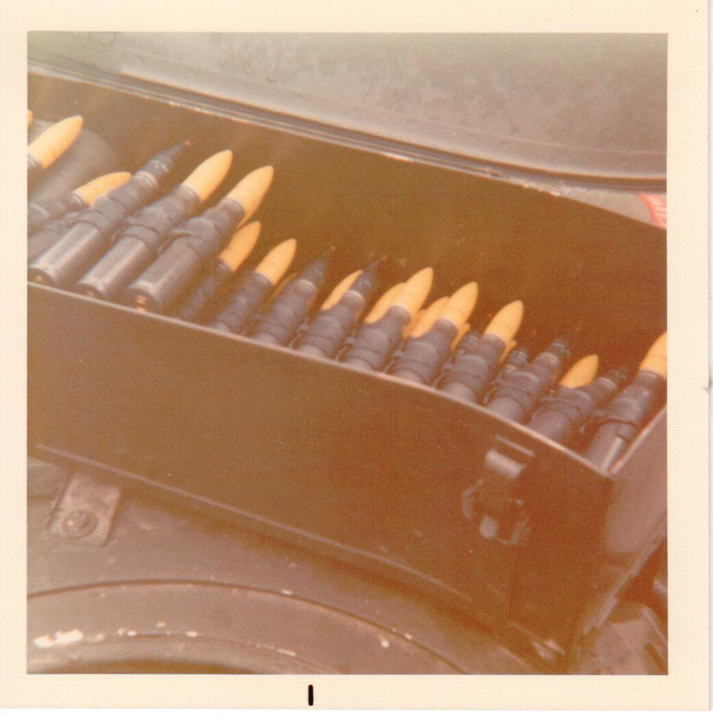 20mm Ammo tray on an M114A1 Hohenfels Germany February 197