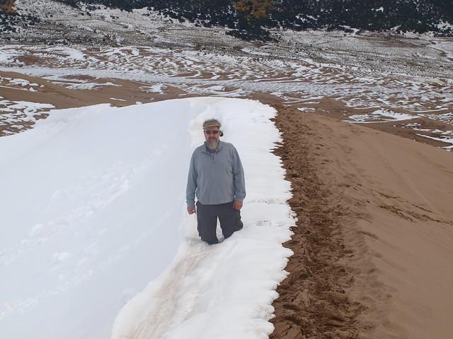 DEEP SNOW ON SAND DUNES