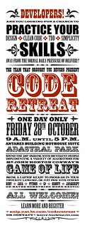 Code retreat poster | by Kerry Buckley