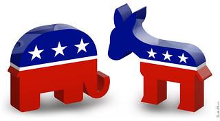 Republican Elephant & Democratic Donkey - 3D Icons | by DonkeyHotey
