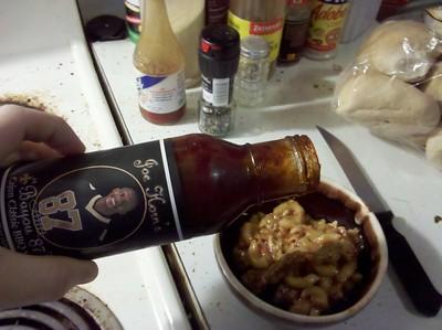 Beefy Mac with Joe Horn sauce