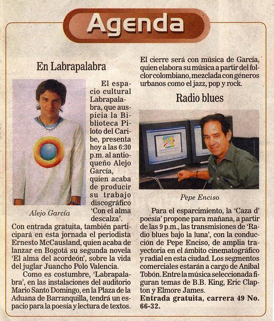 Periódico El Heraldo Barranquilla Mayo 2007
