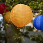 Summer lanterns | Colourful lanterns in the trees in Charlotte Square Gardens © Helen Jones