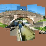 Bridge 61, Foxton Locks. #foxtonlocks #bluesky #summer #bikers #instagrames #grandunioncanal #canal #bridge61 #bridge #comments #commentswelcomed #ceriphotomontage #hockneyesque #hockneyinspired #selfie #shadow