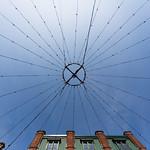 Light strings in distillery district of Toronto