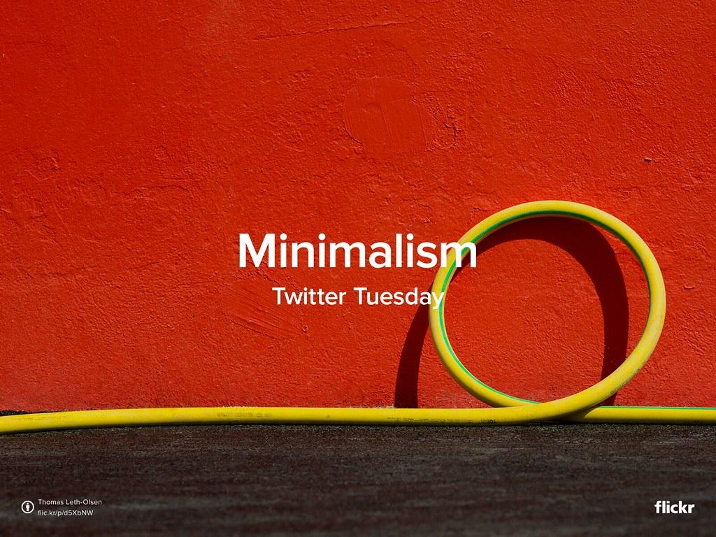 Twitter Tuesday: Minimalism