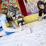 Colouring workshop | Children get involved in one of our free Colouring workshops © Helen Jones