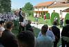 Peter Krier bei seiner Ansprache im Heimathaus und Forum der Billeder Deutschen