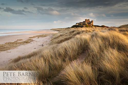 bamburgh bamburghcastle landscapephotography northumbria petebarnesphotography castle castleatsunset coast dunes northumbriacoast