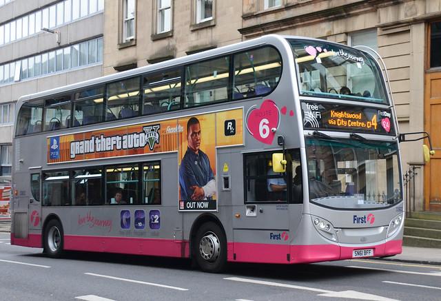 First Glasgow Alexander Dennis Enviro 400 33922 SimpliCITY 4