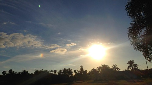 cirrus clouds sunset cape coral lee fl swfl sundog sun dog parhelion parhelia sky erkohl er kohl