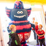 Ben Cort's Monster in Underpants | Illustrator Ben Cort's lovable Monster in Underpants comes to greet his fans at the Book Festival © Alan McCredie