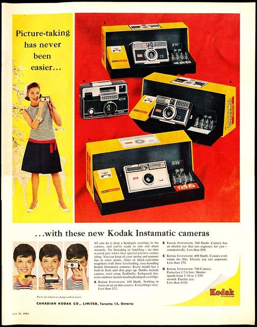 Kodak Instamatic Ad (Mclean's - May, 16th 1964)