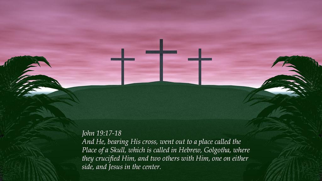 John 19:17-18 | New King James Version (NKJV) And He, bearin… | Flickr