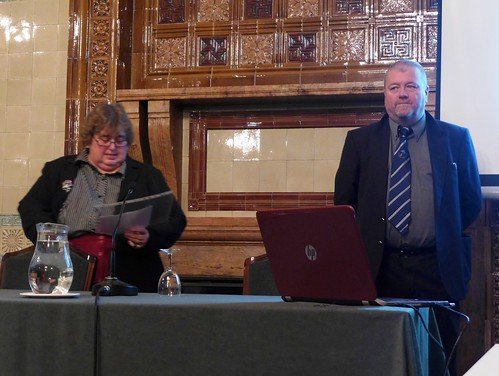 Chairman Elaine McCafferty introduces Dr McNabb | by Sherlock Holmes Society of London