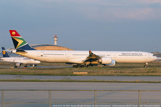 ZS-SNH A340-642 SA 261 FRA-JNB   by Giancarlo Scolari