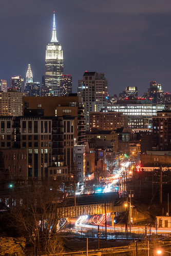 newjersey nj empirestatebuilding chryslerbuilding hoboken hudsoncounty manhattan manhattanskyline newyork newyorkcity jerseycity hieghts night welcometohoboken railroad