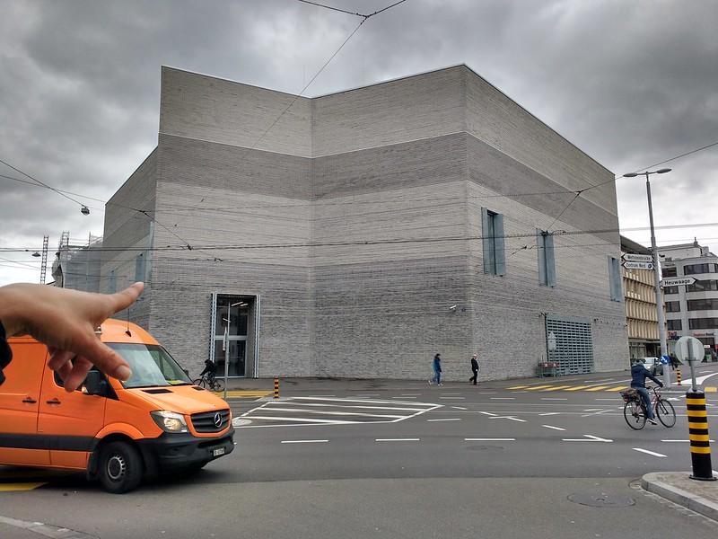 the orange delivery van