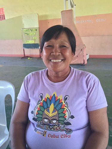 Local resident and civic center caretaker Loida Chiong | by dilg.yolanda