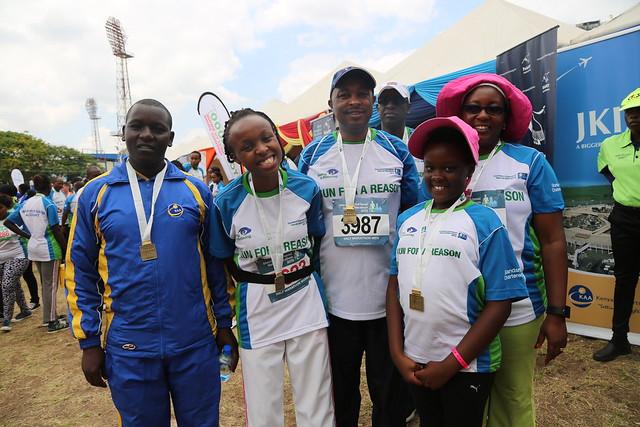 Team KAA at the 2015 Stanchart Nairobi Marathon