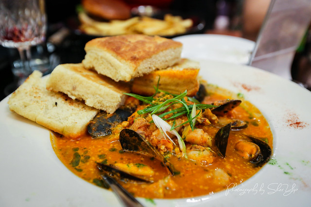 Catalan Fish Stew - Mussels/groper/Saffron/Crawfish/Clams with house Focaccia - The Dancing Fig