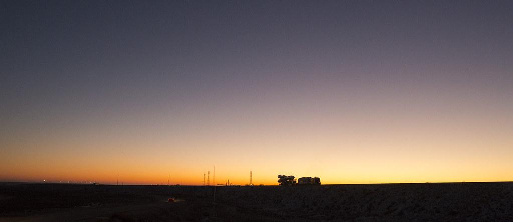 Soyuz TMA-19M rollout