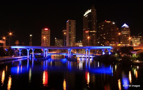 street city bridge blue color reflection water colors beauty skyline architecture night skyscraper canon river tampa landscape eos rebel evening photo perfect long exposure flickr cityscape waterfront nightscape tampabay florida outdoor explore reflect nighttime riverwalk platt waterscape 500d mostbeautifulpictures t1i niceasitgets