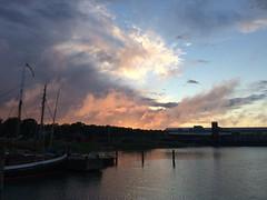 Dramatic sunset, Mariehamn