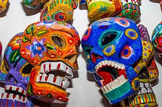 Masques sculptés en bois, Chichicastenango, Guatemala