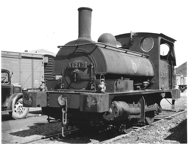 Ex L & Y PUG # 51217  at Avonside Yard. Bristol 1950's