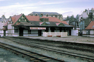 Isle of Man Railway - Peel Station on the eve of the reopening - 2nd June 1967