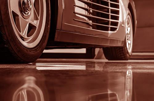 california reflection car wheel sepia raw low tire ferrari photowalk hdr sportscar ferraritestarossa cortemadera testarossa 3xp photomatix fav100 selp1650