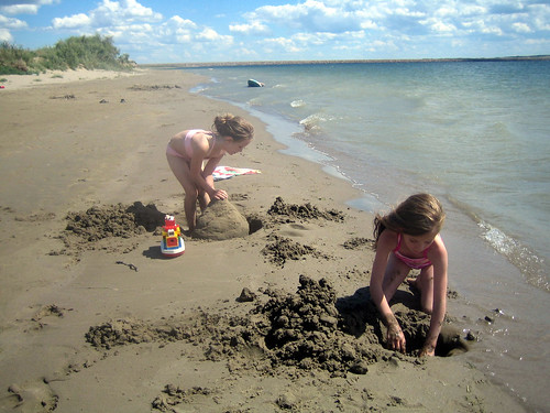 Martha and Jayda building sandcastles | by shareski