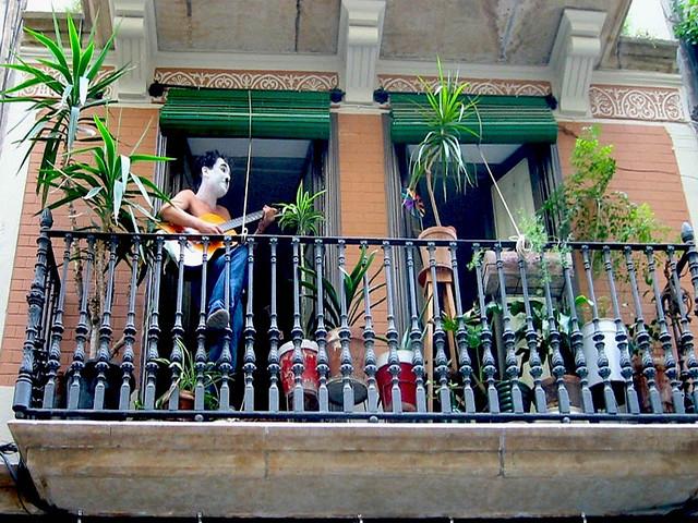 Artist on his balcony
