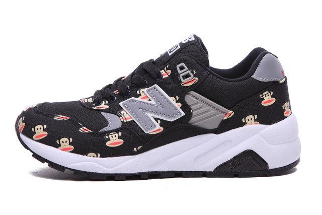 watch b5e6e f521b NB 580 Womens New Balance Paul Frank Black Grey Sneakers ...