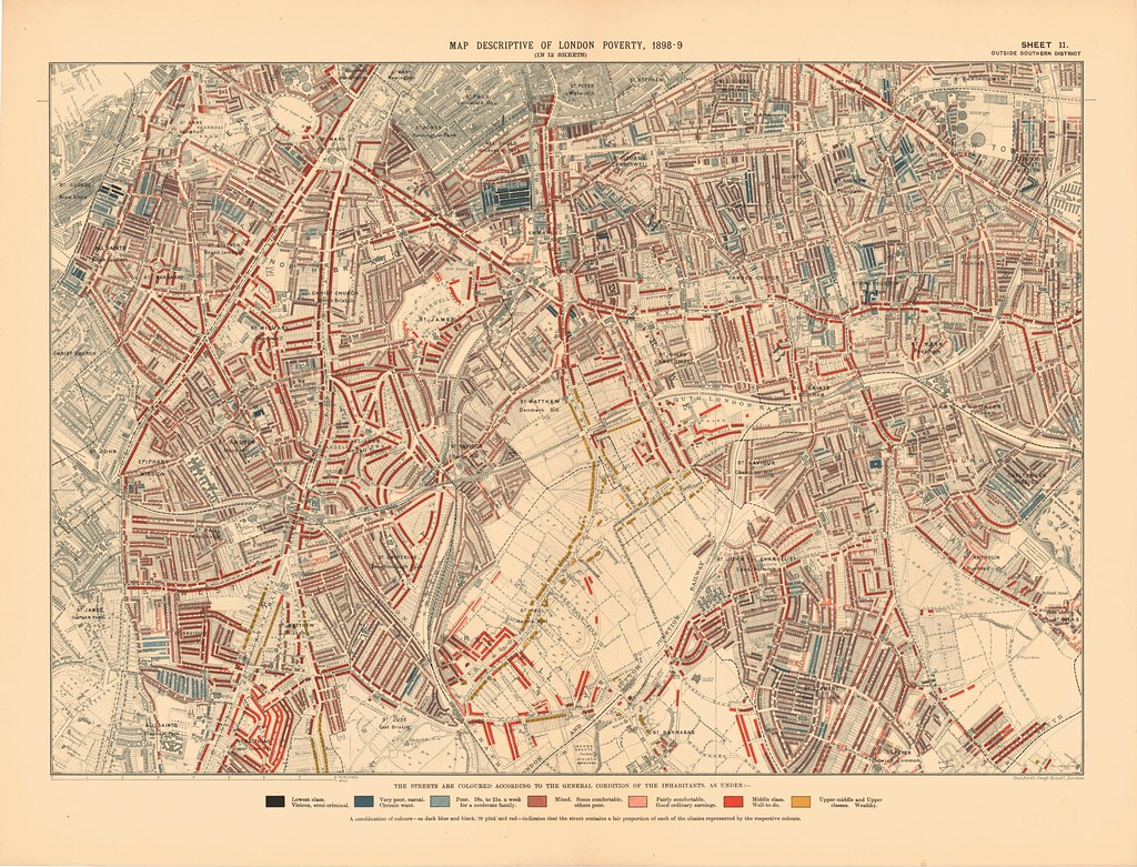 MAP OF LONDON 1898