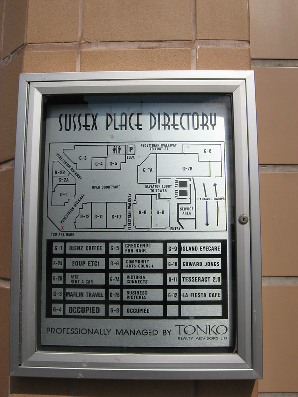 Sussex Bldg directory