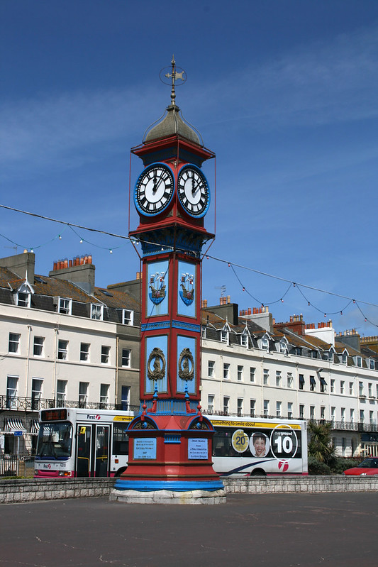 The clock tower at Weymouth