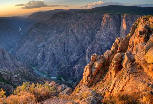 travel cliff nationalpark colorado deep gorge chasm gunnison blackcanyonofthegunnison blackcanyon sunsetview blackcanyonofthegunnisionnationalparkcoloradotravelclif blackcanyonofthegunnisionnationalparkcoloradotravelcliffchasmdeepsunsetview