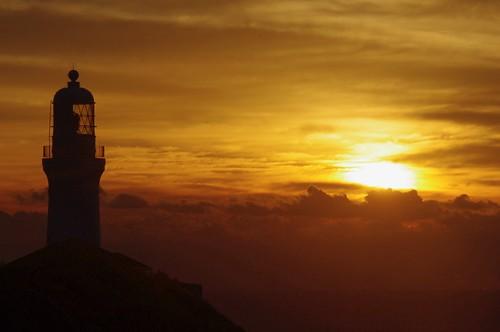 駿河湾 landscape sky atmosphere 朝焼け sea 朝日 新年 海 灯台 lights nature cape sun japan cloudy 日の出 morning 太陽 御前崎 sunrise