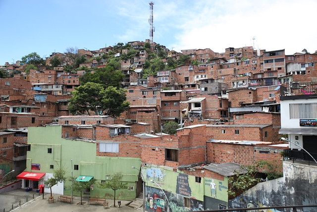 Medellin's push for urban regeneration has earned the city of 2.5 million people numerous accolades.<br /> <br /> In 2012, for example, Medellin was named the world's most innovative city by the Urban Land Institute.<br /> <br /> It's a dramatic turnaround for a city that was once home to the world's highest murder rate – 380 murders per 100,000 people in 1991.<br /> <br /> Much of the violence back then was blamed on native son and drug lord Pablo Escobar, who ran the world's largest cocaine cartel until he was gunned down on a rooftop in 1993.<br /> <br /> With Medellin no longer Escobar's fiefdom, the city has been able to reinvent itself by focusing on visionary urban renewal, most notably in once no-go slum areas.<br /> <br /> Yet gang violence, particularly extortion payments, imposed by criminal groups still plague gang-controlled impoverished areas.<br /> <br /> But few residents living in slum areas would deny that large amounts of political will and cash been injected into these deprived neighbourhoods, which in the past were simply left to fend for themselves.
