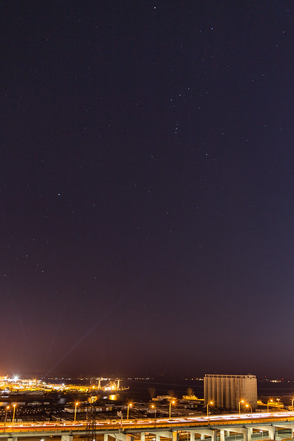 Winter Constellations Above the Toronto Port Lands