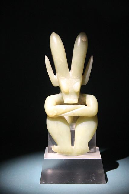 Hongshan Culture Jade Humanoid Figure